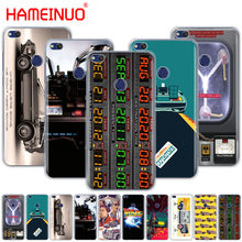 Back to the Future DeLorean Time Machine Cover phone Case for huawei Ascend P7 P8 P9 P10 P20 lite plus pro G9 G8 G7 2017(China)
