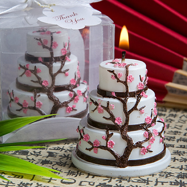 Beautiful Sakura Birthday Decorative Cake Candle Japanese Style
