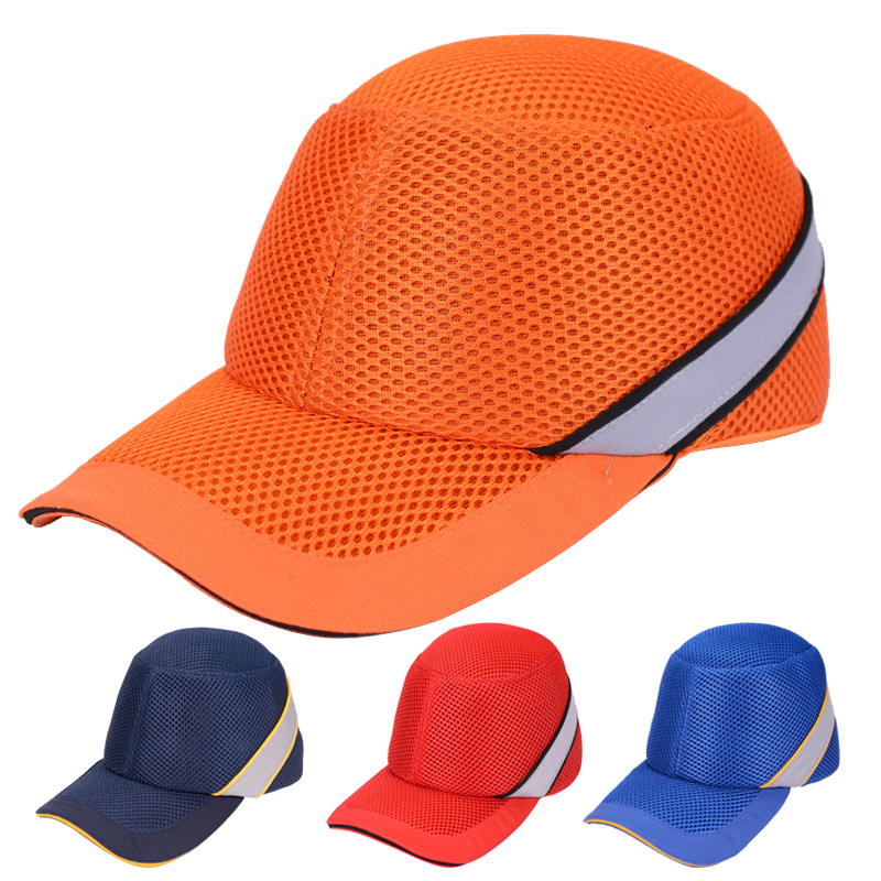 Safety Bump Cap Summer Lightweight Breathable Work Safety Helmet Anti-impact Helmets Protective Hat bump cap work safety helmet with reflective stripe summer breathable security anti impact light weight helmets protective hat