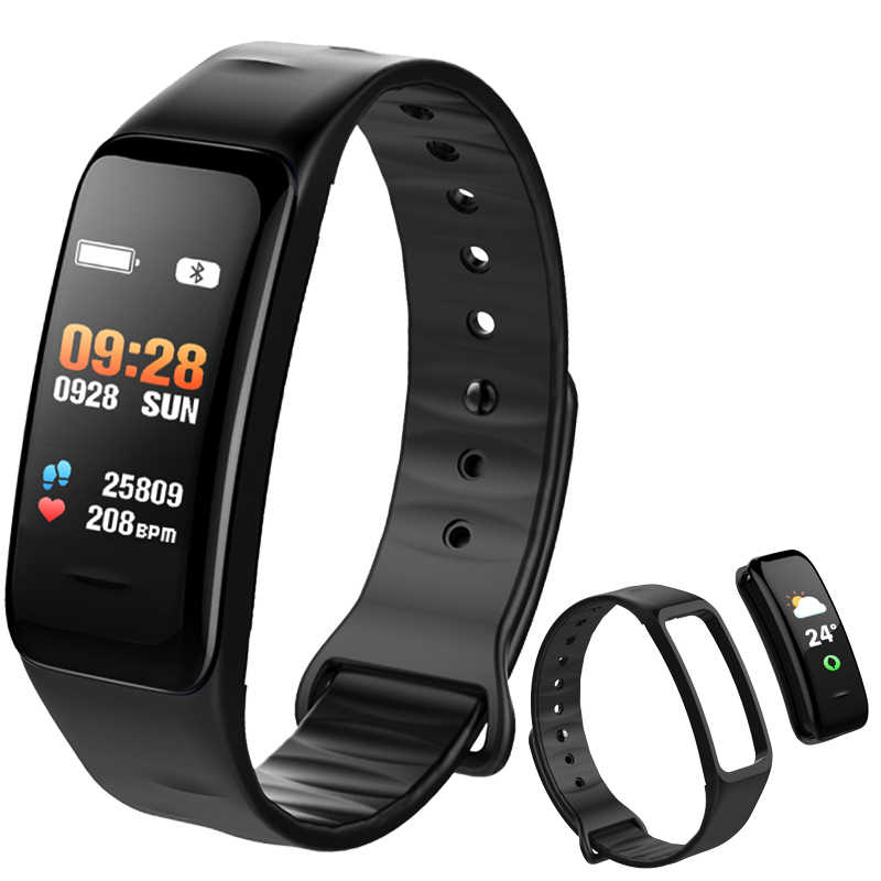 Sport Bracelet Watch Women Men  LED Waterproof Smart Wrist Band Heart rate Blood Pressure Pedometer Clock For Android iOS