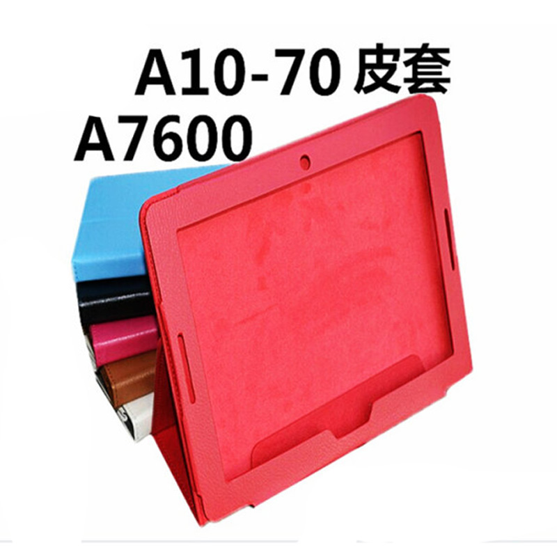 2-Folder Luxury Folio Stand Holder Leather Skin Protective Case Cover For Lenovo IdeaTab A10-70 A10 70 A7600 A7600-F A10-80HC