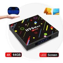 New Hot H96 MAX RK3328 H2 Android 7.1 TV Box 4 GB 64 GB Quad núcleo 4 K VP9 HDR10 USB3.0 Wi-fi Bluetooth 4.0 Media Player PK TX9 PRO