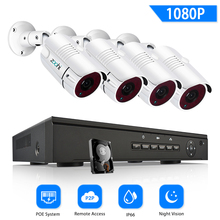 Zoohi Security Cameras System 2.0MP HD IP Camera Waterproof IP66 Night Vision 4CH Onvif 48V POE NVR Kits CCTV Camera System 2016 sale 8ch onvif full hd 48v real poe 80 100m nvr kits with 720p ip cameras p2p cloud service outdoor waterproof ip camera