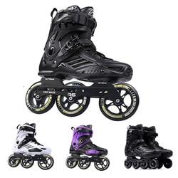 Japy Skates Roselle RS6 Inline Skates 72-76-80mm oder 3*110mm Slalom Geschwindigkeit Inline Skates Roller Kostenloser Skating Schuhe schiebe Patines
