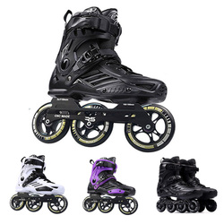 Japy patins Roselle RS6 patins à roues alignées 72-76-80mm ou 3*110mm Slalom vitesse patins à roues alignées chaussures de patinage sans roulettes Patines coulissantes