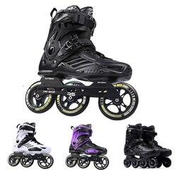 Patines Japy Roselle RS6 en línea, Patines en línea de 72-76-80mm o 3*110mm, Patines en línea de velocidad Slalom, zapatos de patinaje sin ruedas, Patines deslizantes