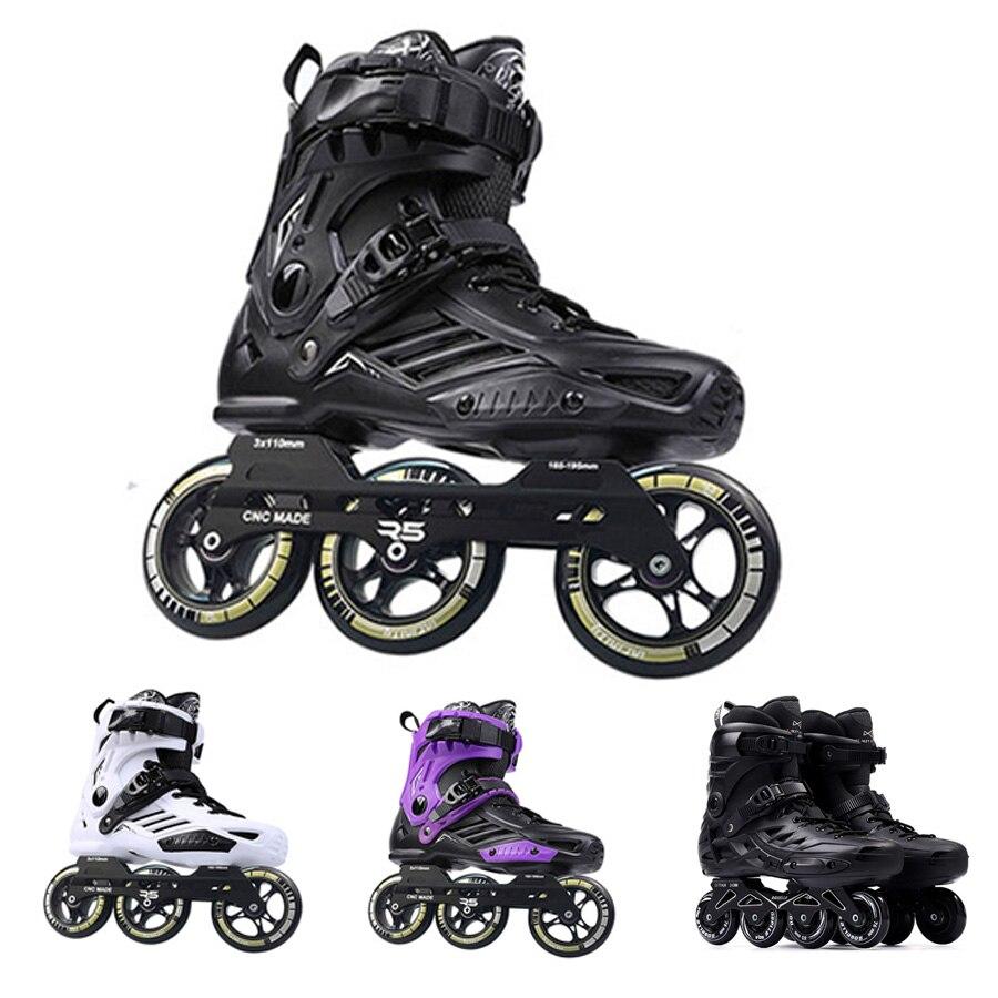 Patins Japy Roselle RS6 patins à roues alignées 72-76-80mm ou 3*110mm patins à roues alignées Slalom Speed patins à roulettes Patines coulissantes