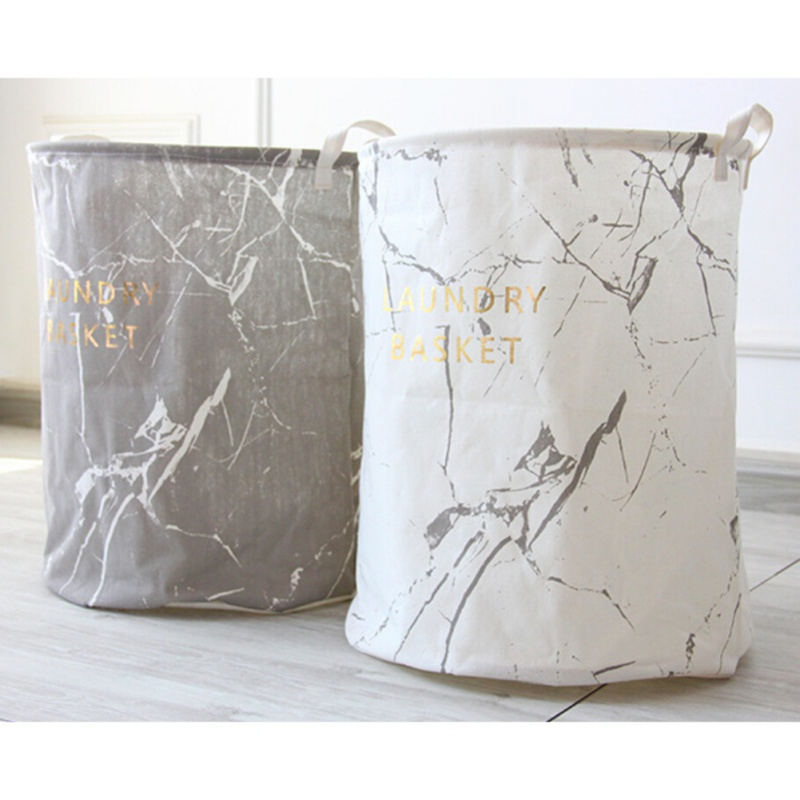 Bag Laundry-Basket Storage-Bags Bucket Marble-Design Foldable Home-Dirty Kids Toy Lovely