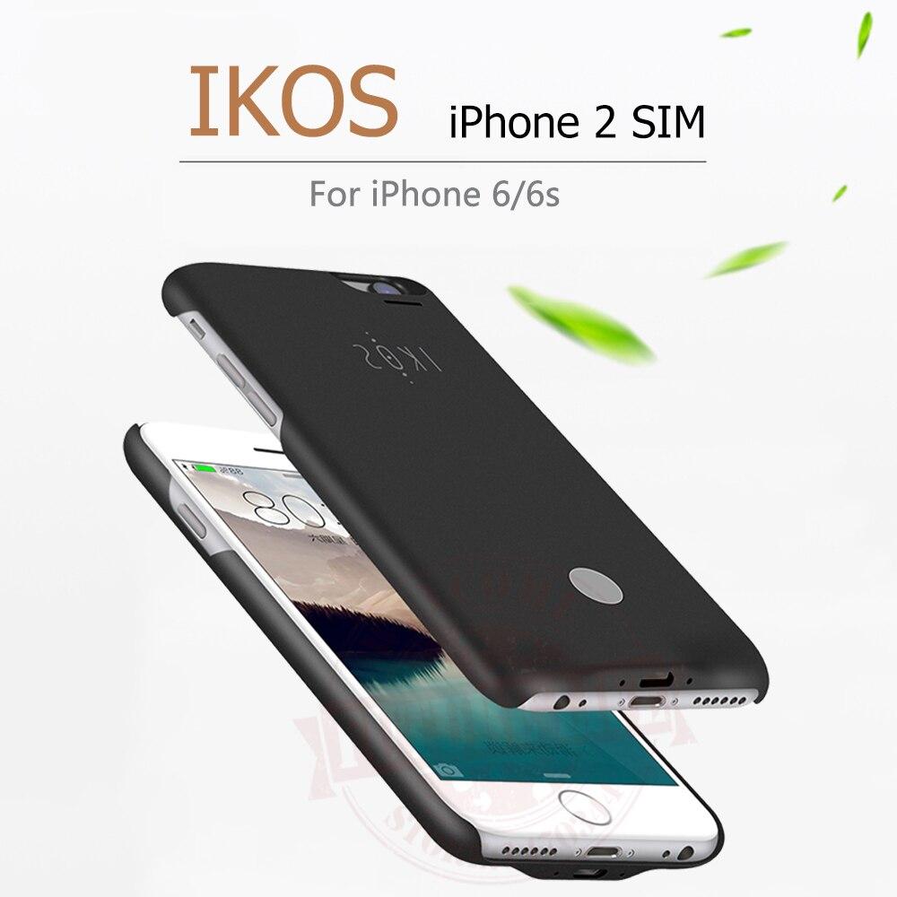 imágenes para Buena calidad adaptador bluetooth dual sim doble modo de espera para el iphone 6/6s ikos k2 goodtalk casos de teléfono de shell ultra-delgado de nuevo clip