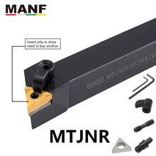 MANF-outil de tournage du tour externe, 16mm, porte-outils en carbure de tungstène, outils de tour à métaux, MTJNR2020K16