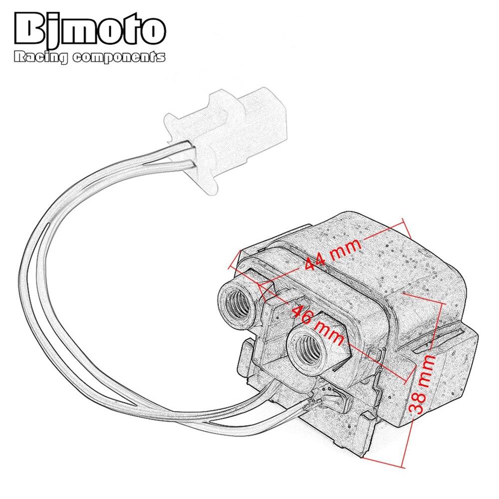 bjmoto motorcycle starter relay solenoid for yamaha sr 125 yfm 350 xs  warrior yn 100 neos yq 100 aerox raptor 50 yfm50 -in motorbike ingition  from