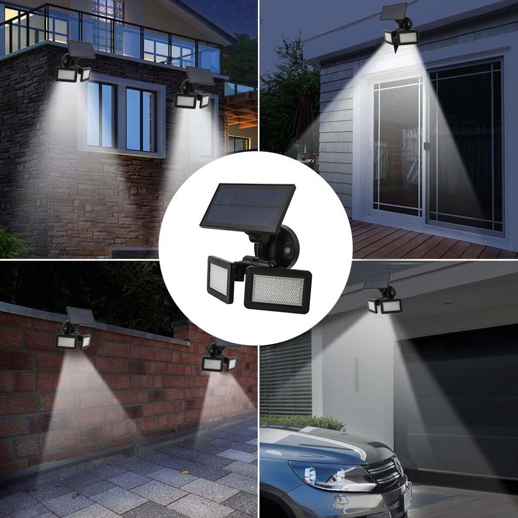 48LED Solar Wall Light Waterproof Dual Head Sensor Outdoor Garden Landscape Solar Powered Lamps Dual Head Street Security Lamp48LED Solar Wall Light Waterproof Dual Head Sensor Outdoor Garden Landscape Solar Powered Lamps Dual Head Street Security Lamp