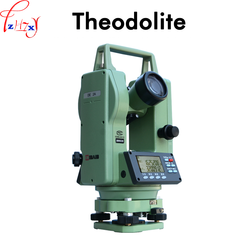 Electronic laser theodolite DE2A laser theodolite equipment for measuring equipment on site DC 6V 1PC цена