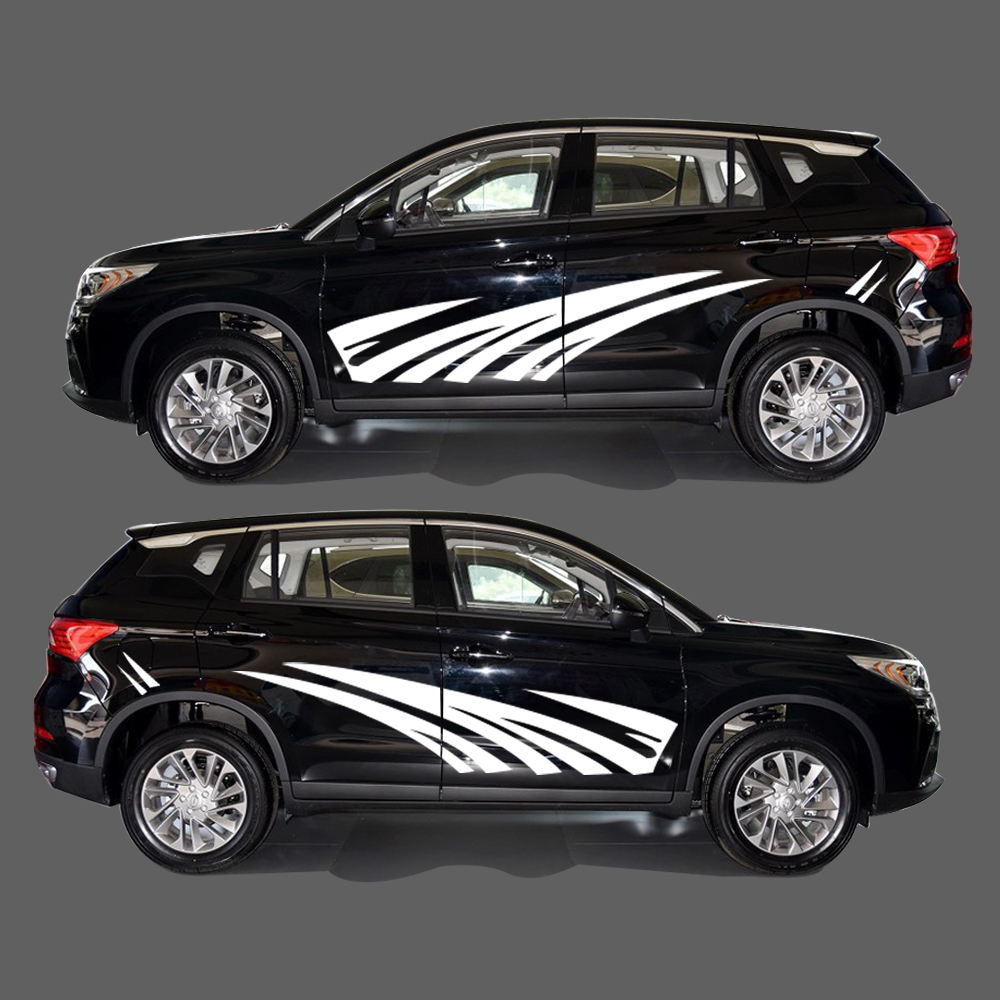2018 New Personality PVC Sticker Car Styling Auto Part Strips Stickers Car Body Decal For Audi Q5 2Pcs 2Color new personality car sticker for vw amarok funny diy car decals sticker car styling 2 pcs concise grid pattern car accessories