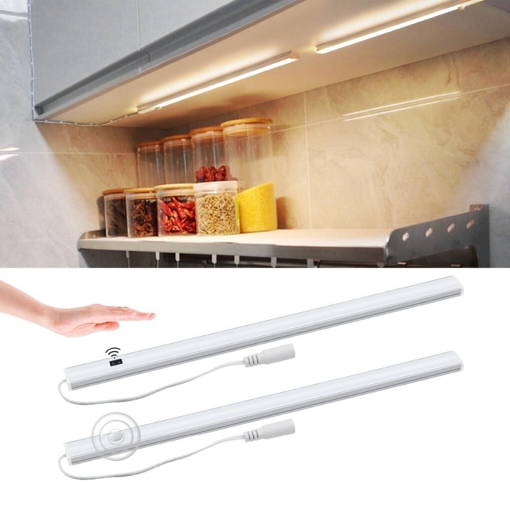 Led Night Lights Hand Sweep Motion Sensor Night Light Lamp 12v Led Cabinet Lights Strip Lamp Wardrobe Closet Kitchen Lighting Led Lamps