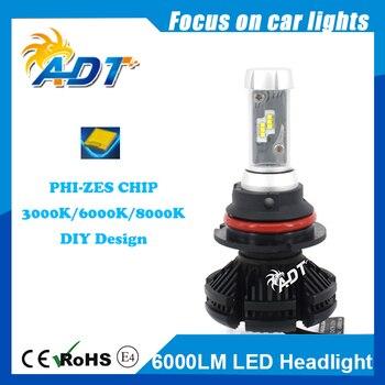 For AUDI 100 H4 HI LOW beam PH High Power Car led headlight IP67 Waterproof 50W 6000LM 3000K/ 6500K/ 8000K