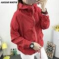 2017 mujeres del Otoño Con Capucha Cazadora Collar Femenino Vestido de Manga Larga Abrigo de Invierno de la Cremallera Trench Outwear