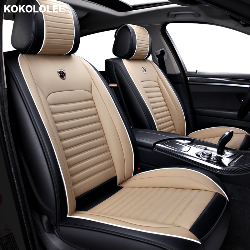 [kokololee] Auto Leather car seat cover For jeep renegade accessories compass 2018 grand cherokee covers for vehicle seats