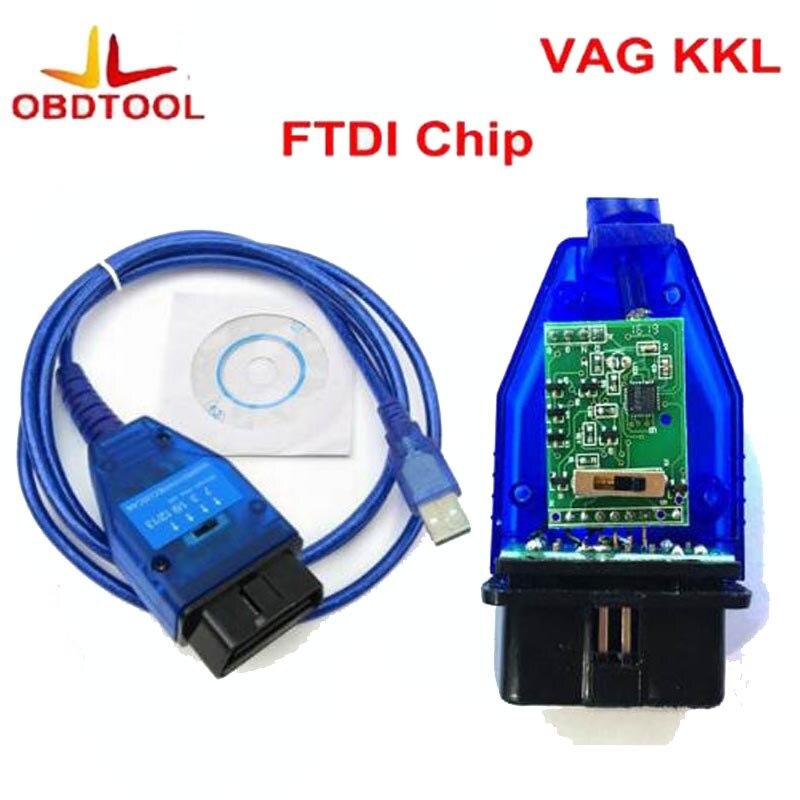 ObdTooL FTDI Chip Auto Auto Obd2 Diagnose Kabel für Fiat VAG USB 409 VAG KKL VAG Usb-schnittstelle Auto Ecu Scan werkzeug 4 Weg Schalter