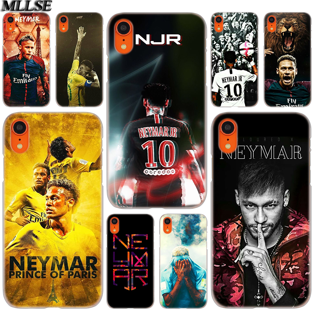 029dd1ae6a3 MLLSE Footballer Neymar Jr Fashion Cover Case for iphone XS Max X XR 8 7 6  Plus 5 SE 5S 5C 4 4S Mobile Phone Bags Hot