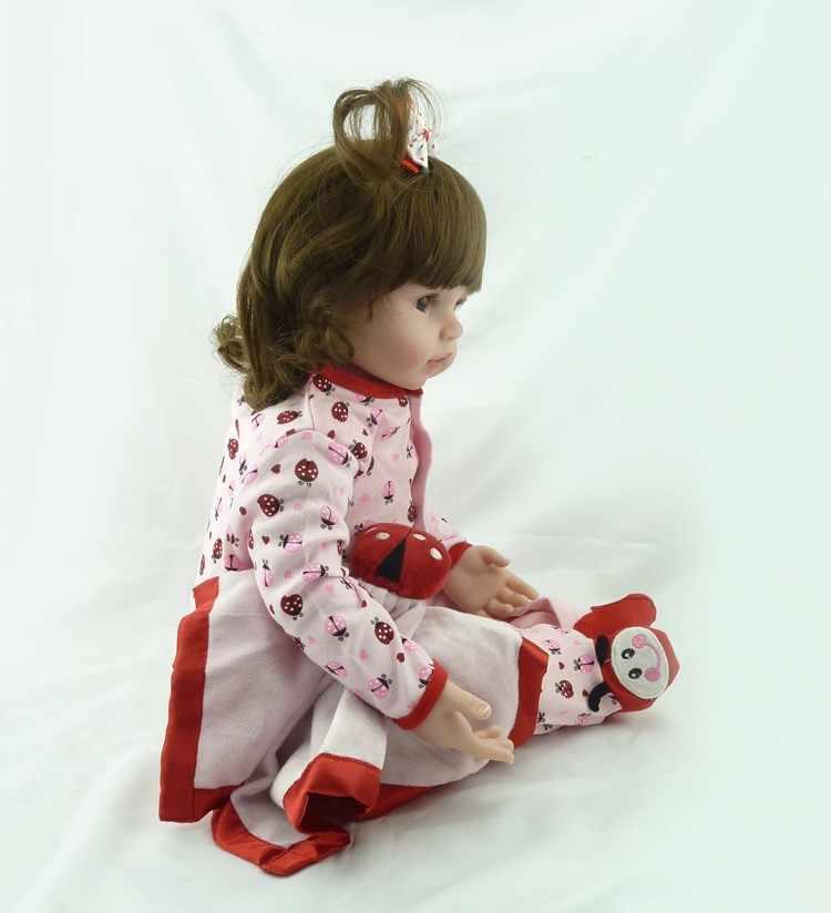 Кукла новорожденная NPK bebes, Мягкая силиконовая кукла для девочки 48 см