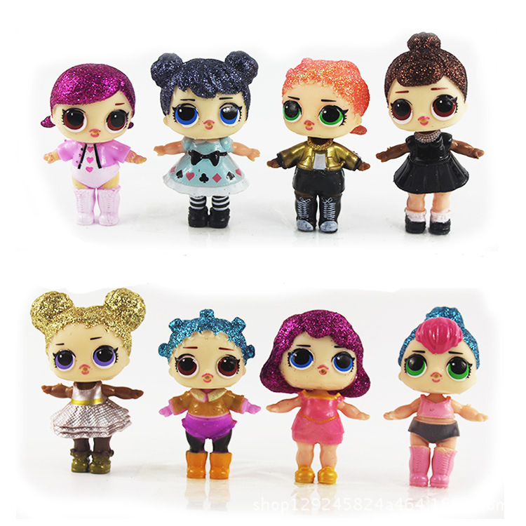 Cartoon Dolls in ball Egg little Ball Horse Miraculous Ladybug Animals Action Figures Toys Anime For Girl Birthday Party Gift 6pcs set disney trolls dolls action figures toys popular anime cartoon the good luck trolls dolls pvc toys for children gift