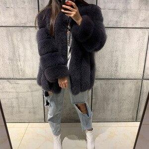 Image 5 - Kürk ceket kadınlar gerçek kürk ceket doğal kürk