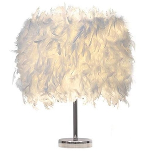 Feather Shade Metal Table Lamp