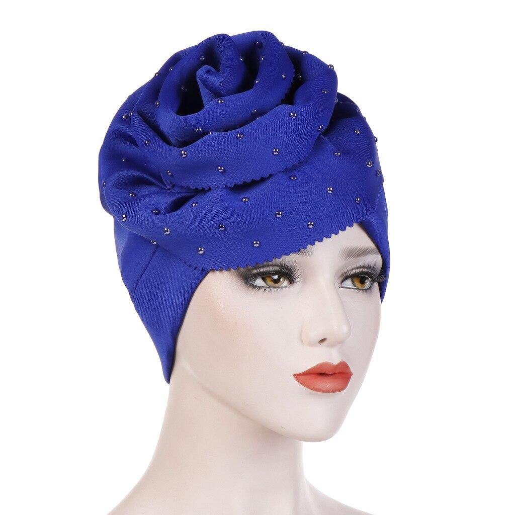 Le donne musulmane in Velluto Cappello Turbante Cappello Testa Sciarpa Wrap Confortevole Casual Cap