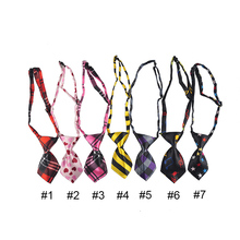 Adjustable Polyester Silk Pets Cat Dog Necktie Handsome Bow Tie Pet Collar Cute Gift Mix Colors Products Accessories Dogs