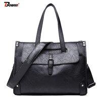 business briefcase bag handbag men leather soft high quality large black shoulder bags for male tote hand bag 2019 new