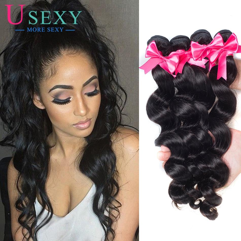 8A Unprocessed Brazilian Virgin Hair 3 Bundles Cheap Loose Wave Human 8-28 Inch Weave Extensions
