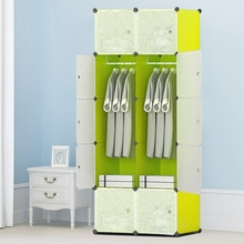 Steel Pipe Wardrobe Bold Reinforcement Assembly Closet Organizer Simple Cloth Fabric Wardrobe Storage