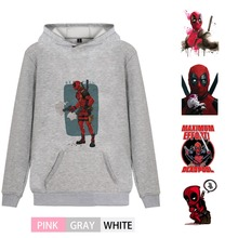 Marvel Avengers Graffiti Deadpool Fashion Fleecy Men/woman pink Hoodie Kangaroo Pocket Casual Teen Jersey A193291