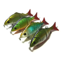 MIZUGIWA Artificial Peche Swimbait 3D Eyes Fishing Lure Four Sections Jointed Sea Fish Plastic Hard Bait 125mm 20g Pesca