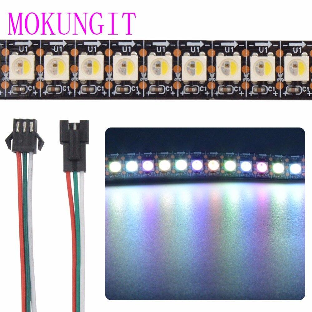 Mokungit 1M SK6812 RGBW RGBWW 144 LEDs/m 5050 SMD Flexible Light Strip IP20 Non Waterproof IP65 IP67 White Black PCB DC5V aiunci 60ledsm 5mlot ip20 white pcb