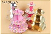 3 Lớp Tông Giấy Cupcake Bánh Đứng Tấm Hiển Thị Tray Chủ Muffin Trang Trí Món Tráng Miệng Wedding Birthday Party Trang Trí