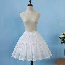 2019 Women Petticoat Underskirt Short Cosplay Lolita Lace Appliqued Chiffon Ballet Rockabilly Crinoline