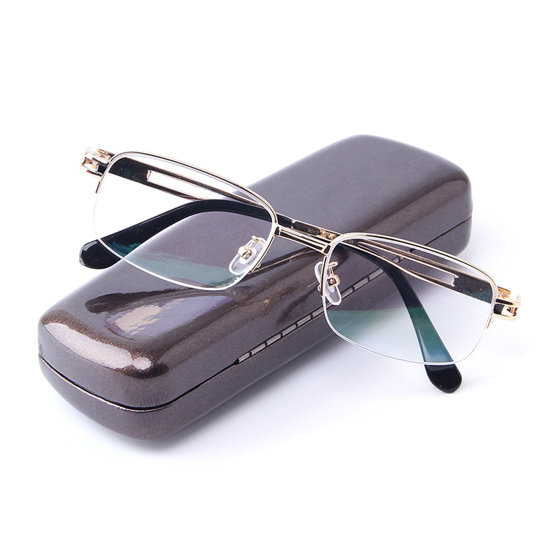 6d501c90995 Aliexpress.com   Buy Fashion Business Men Reading Glasses Half Frames Alloy  Gold See Near Optical Presbyopia Lenses Ultra light Casual Male Glasses  from ...