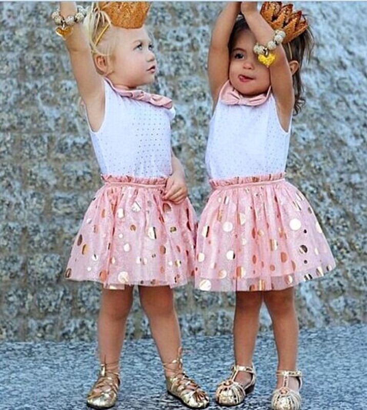HOT Sale Summer Baby Kids Girls Dress Clothes Sleeveless Bow Dot Cute Mini Tulle Tutu Girls Sequins Party Dresses New Pink hot sale halter beading sequins short homecoming dress