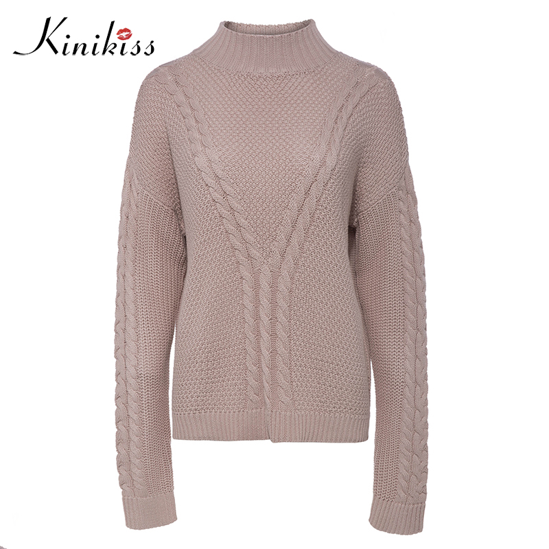 Aliexpress.com : Buy Kinikiss Women Twist Turtleneck Sweater ...