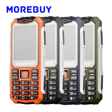 Vkworld Stone V3S Daily Waterproof Dustproof Shatterproof Mobile Phone FM Bluetooth Dual SIM Card Long Standby Dual LED Light
