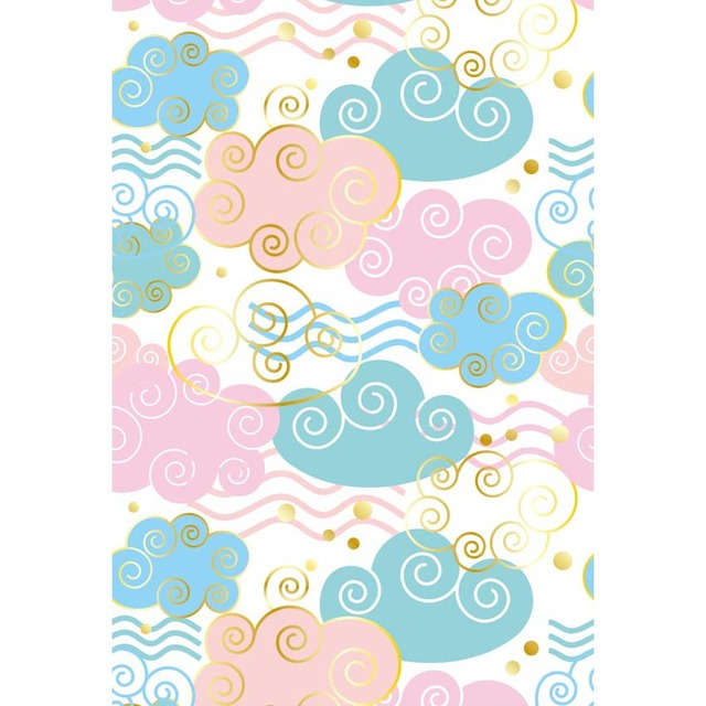 Digital Printed Blue And Pink Cloud Patterns Newborn Photography New Pink Patterns