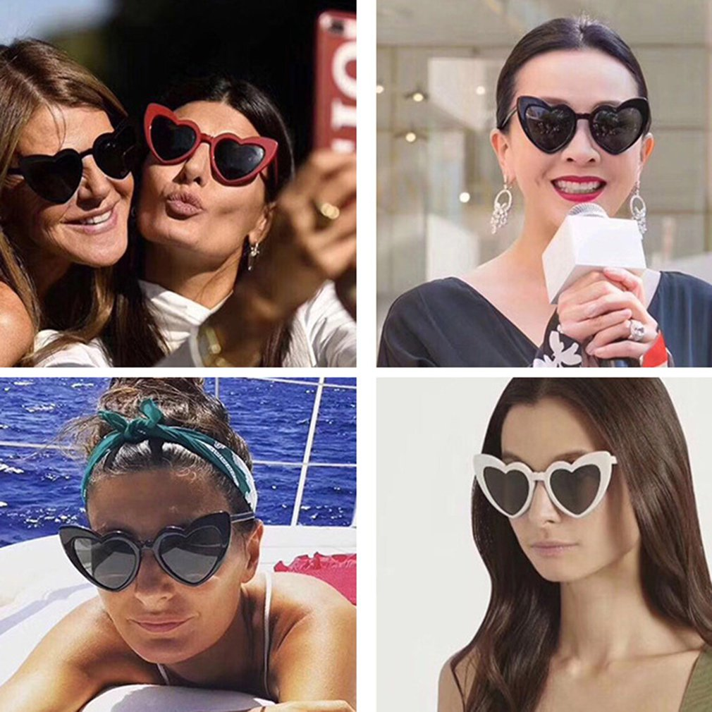 dc1855551 Leve E Elegante Proteção UV óculos de Sol Das Mulheres Dos Homens Clássico  Quadro PC Esporte Condução Óculos Óculos Caso Trendcy Shap Coração
