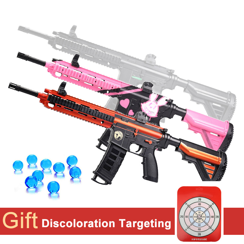 M416 Plastic Toy Gun Electric Rifle Water Paintball Gel Ball Boys Gun Weapon Outdoor Shooting Christmas Gifts For Children Adult