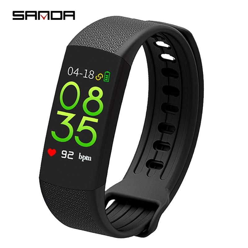Sanda Watch Women Business Sports Ladies Bracelet Smart Watches Multi-function Heart Rate Blood Pressure Sleep Monitoring Health