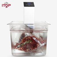 ITOP Smart Sous Vide Precision Slow Cooker Immersion Pod With LED Display, Quiet & Powerful Operation CE RoHS Approved