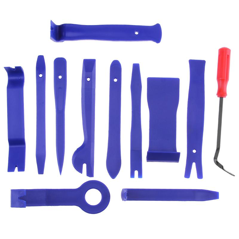 12pcs/Set Car Disassembly Tools Universal Clip Panel Remover Screwdriver Repair Tool For Audio Stereo