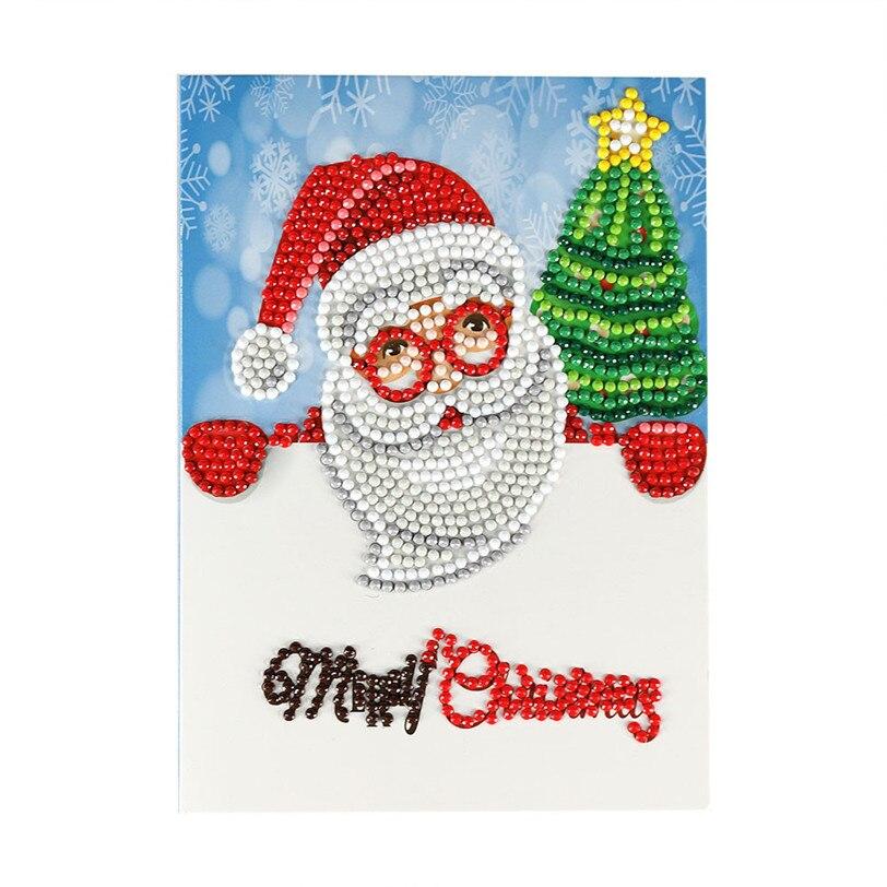 Hand made Merry Christmas Cards DIY 5D Diamond Painting ...
