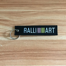High quality RALLIART RACING embroidery nylon Weaving for Mitsubishi Car key ring keychain auto motorcycle accessories